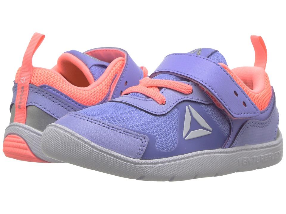 Reebok Kids Ventureflex Stride 5.0 (Toddler) (Lilac Glow/Sour Melon/White) Girls Shoes