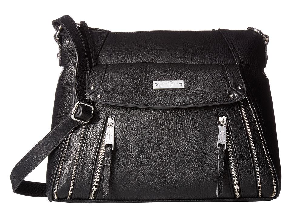 Jessica Simpson - Zuri Large Crossbody (Black) Cross Body Handbags