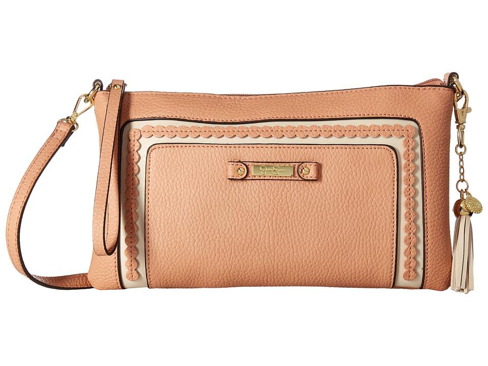 Jessica Simpson - Winnie Clutch Crossbody (Peach) Cross Body Handbags