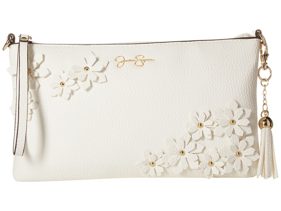 Jessica Simpson - Lorelei Clutch Crossbody (White) Cross Body Handbags