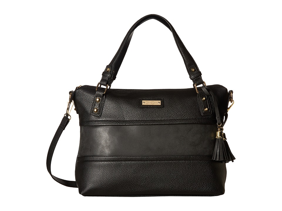 Jessica Simpson - Vesey Satchel (Black) Satchel Handbags
