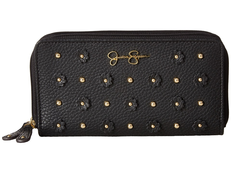 Jessica Simpson - Lorelei Double Zip Around (Black) Handbags