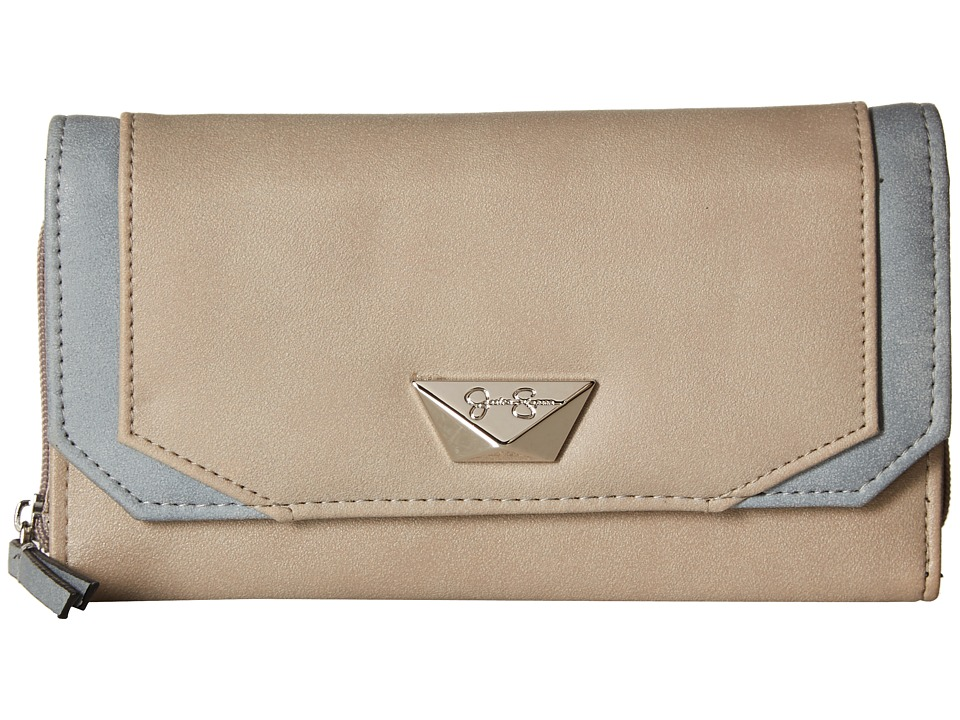 Jessica Simpson - Lena Medium Flap Wallet (Silver/Granite) Wallet Handbags
