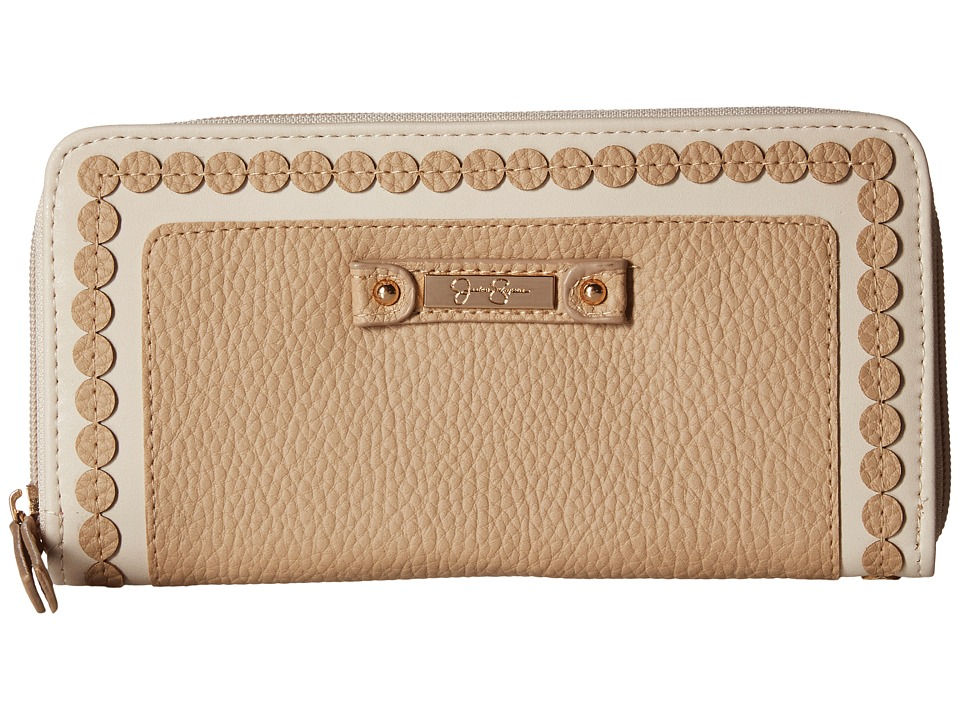 Jessica Simpson - Winnie Single Zip Around Wallet (Toasted Almond) Wallet Handbags