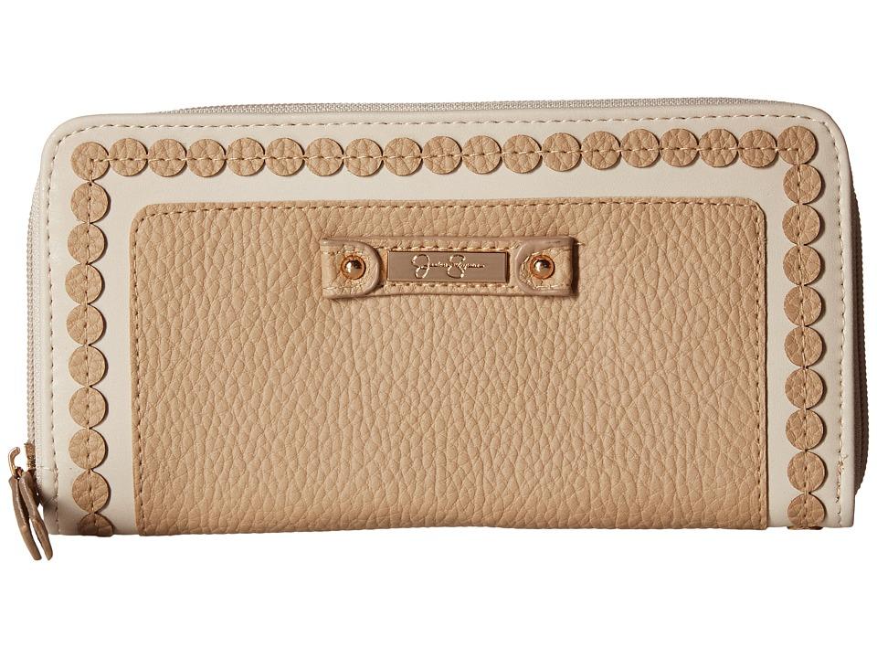 Jessica Simpson - Winnie Single Zip Around Wallet (Toasted Almond) Wallet Handbags