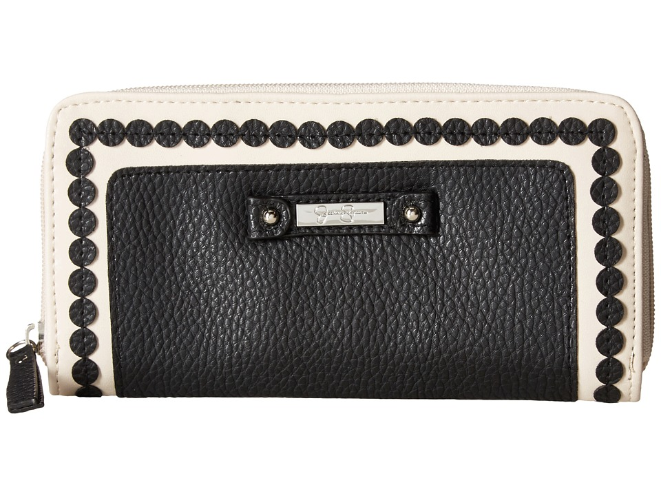 Jessica Simpson - Winnie Single Zip Around Wallet (Black) Wallet Handbags