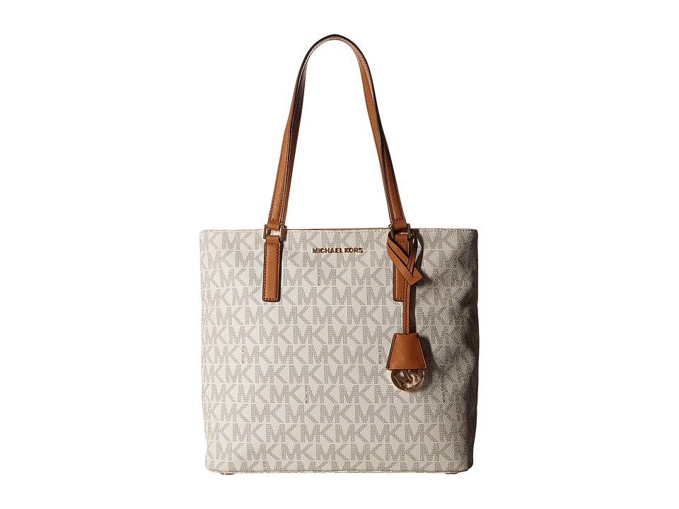 MICHAEL Michael Kors - Morgan Medium Tote PVC Logo (Vanilla) Tote Handbags