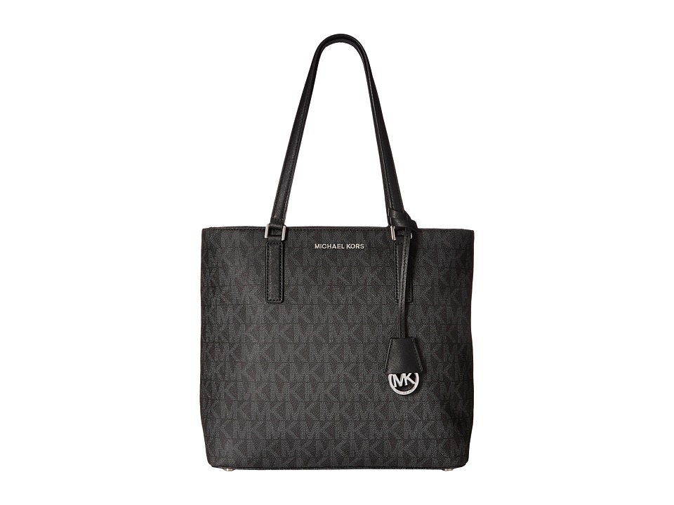 MICHAEL Michael Kors - Morgan Medium Tote PVC Logo (Black) Tote Handbags