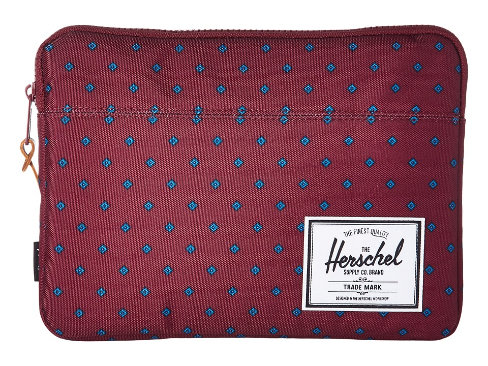 Herschel Supply Co. - Anchor Sleeve for iPad Air (University Windsor Wine) Computer Bags