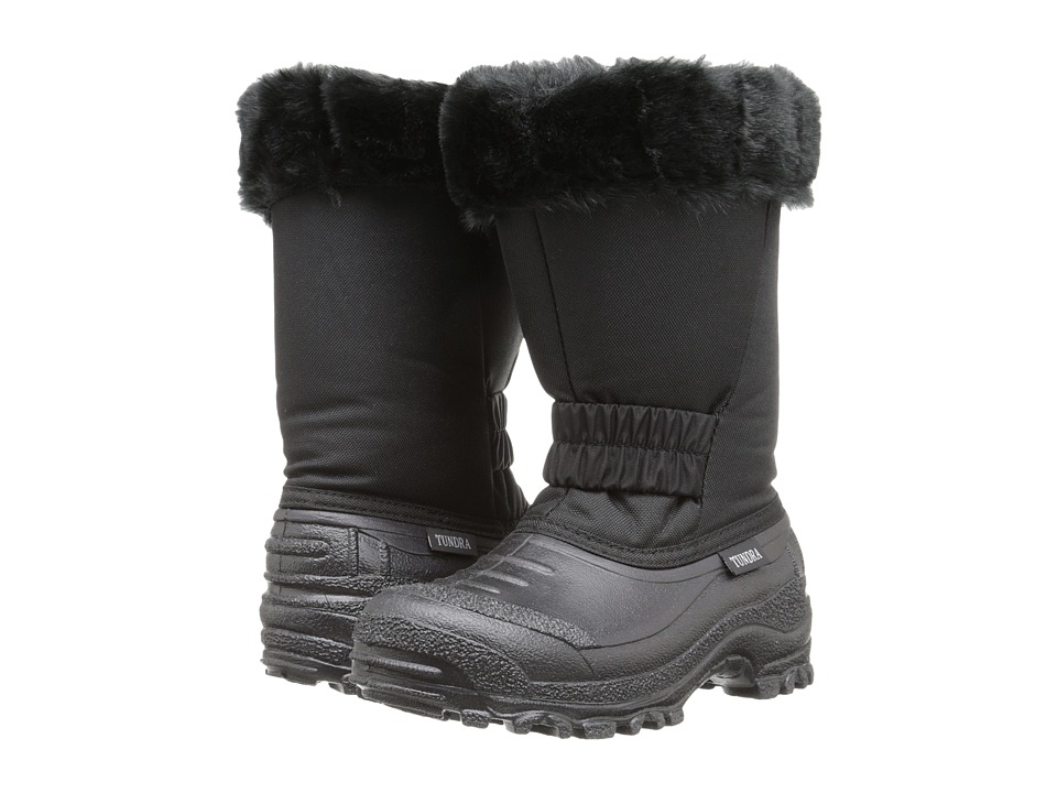 Tundra Boots Kids - Glacier (Little Kid/Big Kid) (Black) Girls Shoes