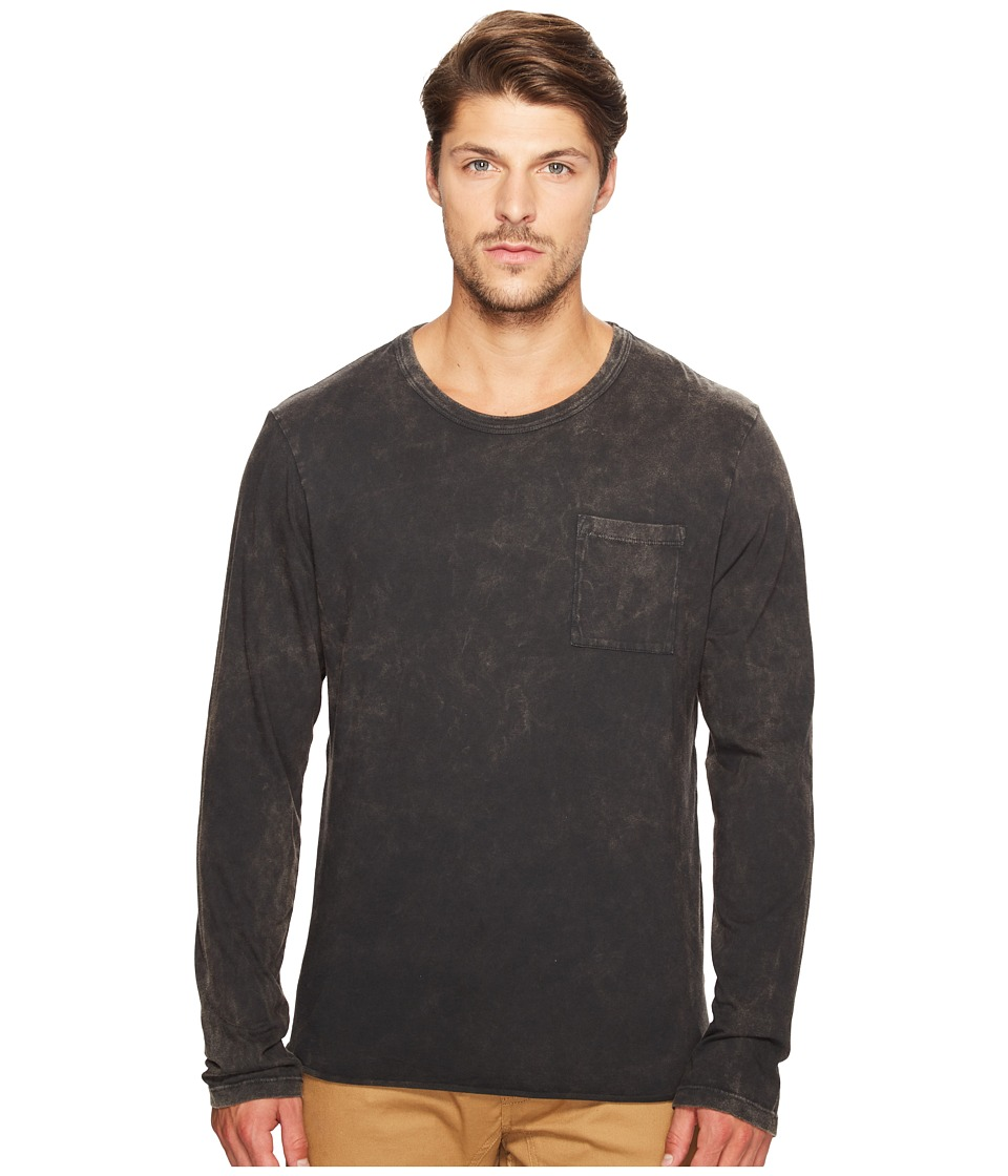 Alternative - Brushed Supima Cotton w/ Sun-Dried Wash Saltwater Long Sleeve Tee (Sun-Dried Smoke) Men's T Shirt