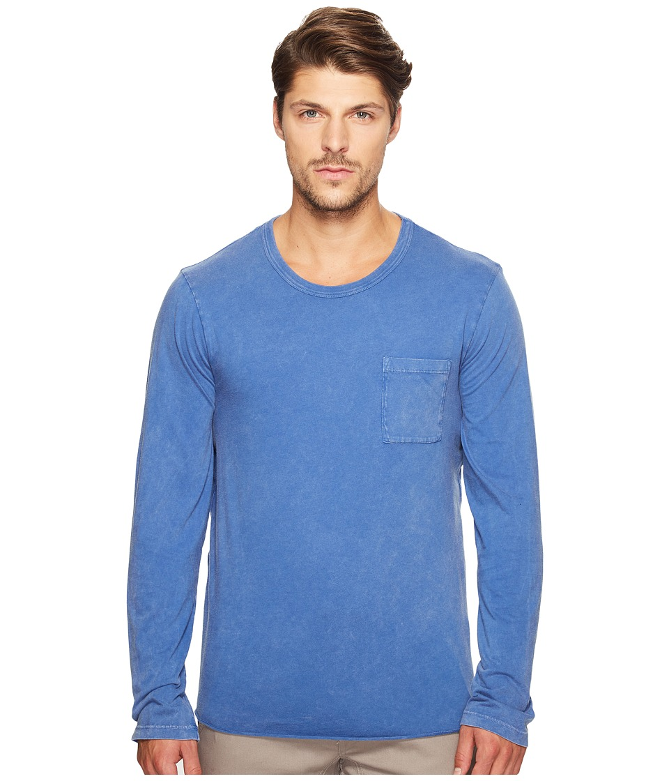 Alternative - Brushed Supima Cotton w/ Sun-Dried Wash Saltwater Long Sleeve Tee (Sun-Dried Lake Blue) Men's T Shirt