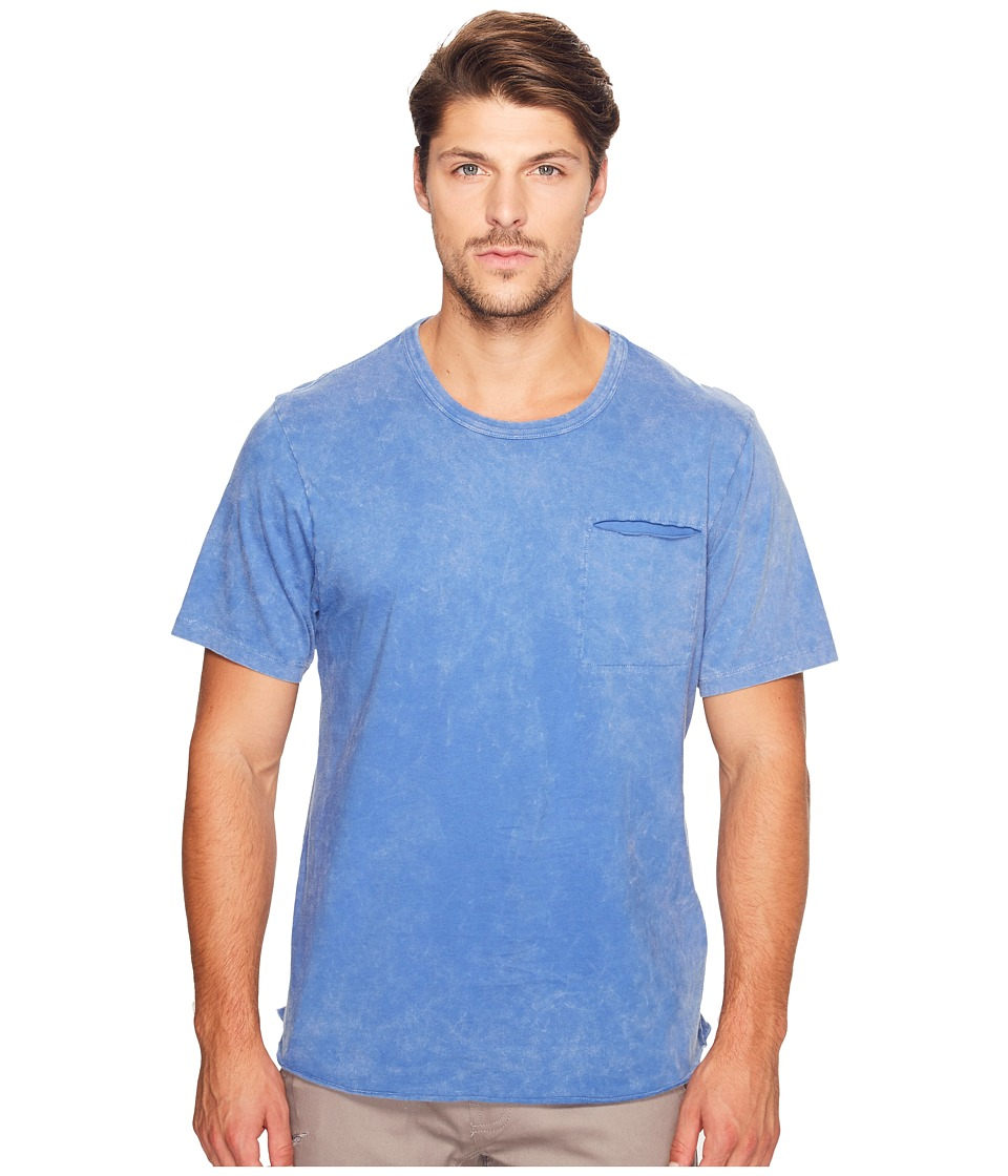 Alternative - Brushed Supima Cotton w/ Sundried Wash Washed Out Tee (Sun-Dried Lake Blue) Men's T Shirt
