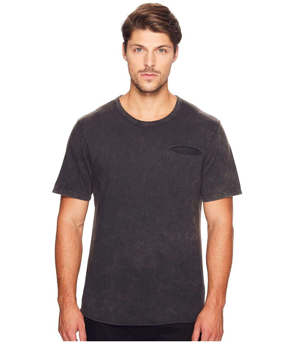 Alternative - Brushed Supima Cotton w/ Sundried Wash Washed Out Tee (Sun-Dried Smoke) Men's T Shirt