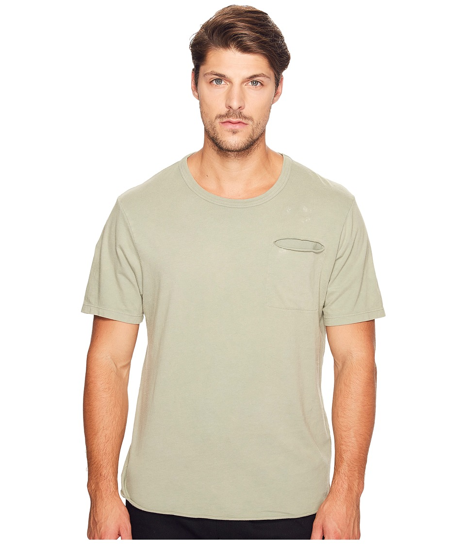 Alternative - Brushed Supima Cotton w/ Sundried Wash Washed Out Tee (Sun-Dried Venice Green) Men's T Shirt