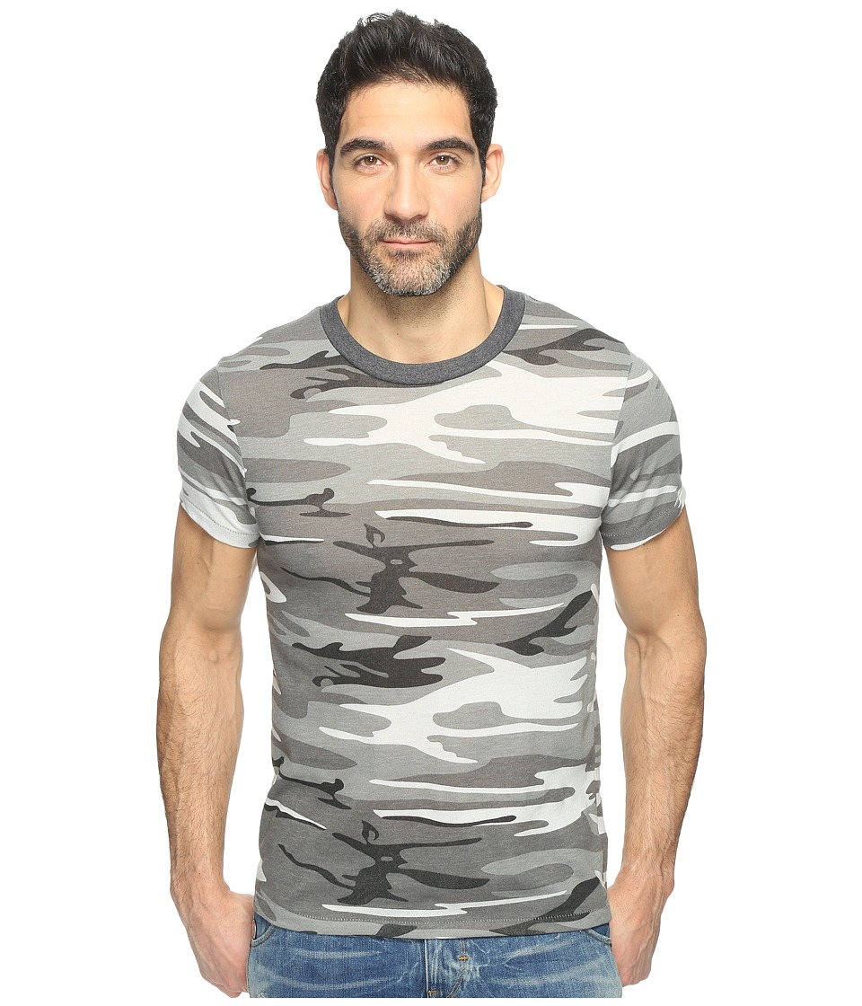 Alternative - Eco Crew T-Shirt (Grey Camo) Men's T Shirt