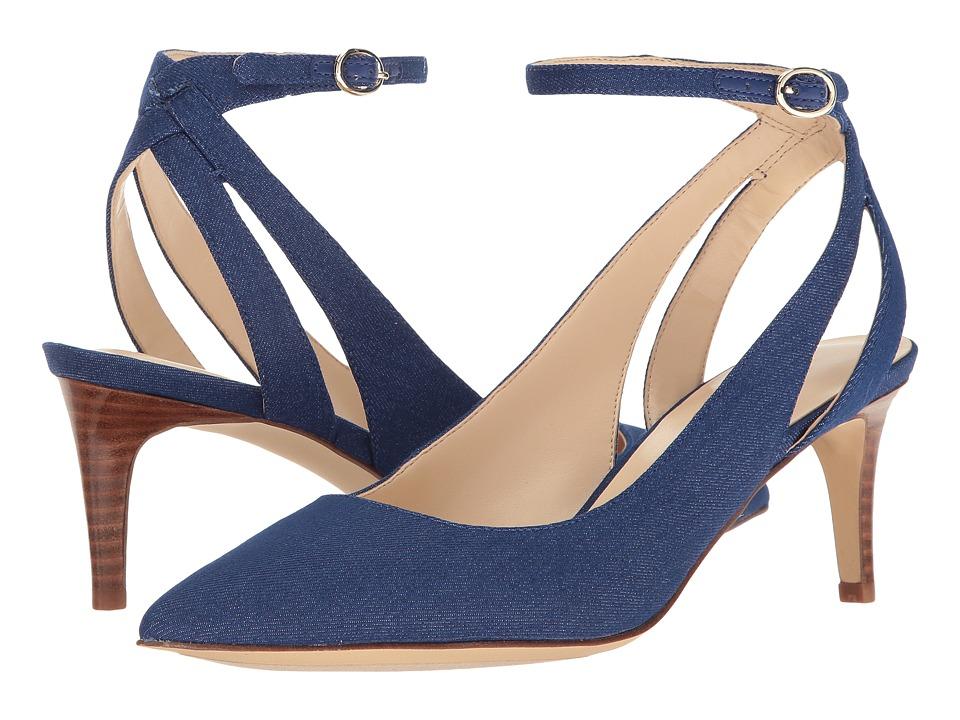 Nine West - Shawn (Blue Fabric) High Heels