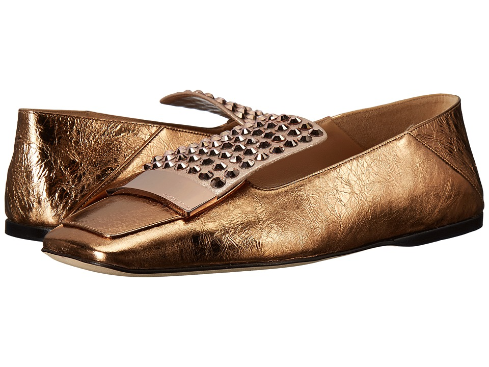 Sergio Rossi - A77990-MFN164 (Rose Gold Crash/Jewel) Women's Shoes