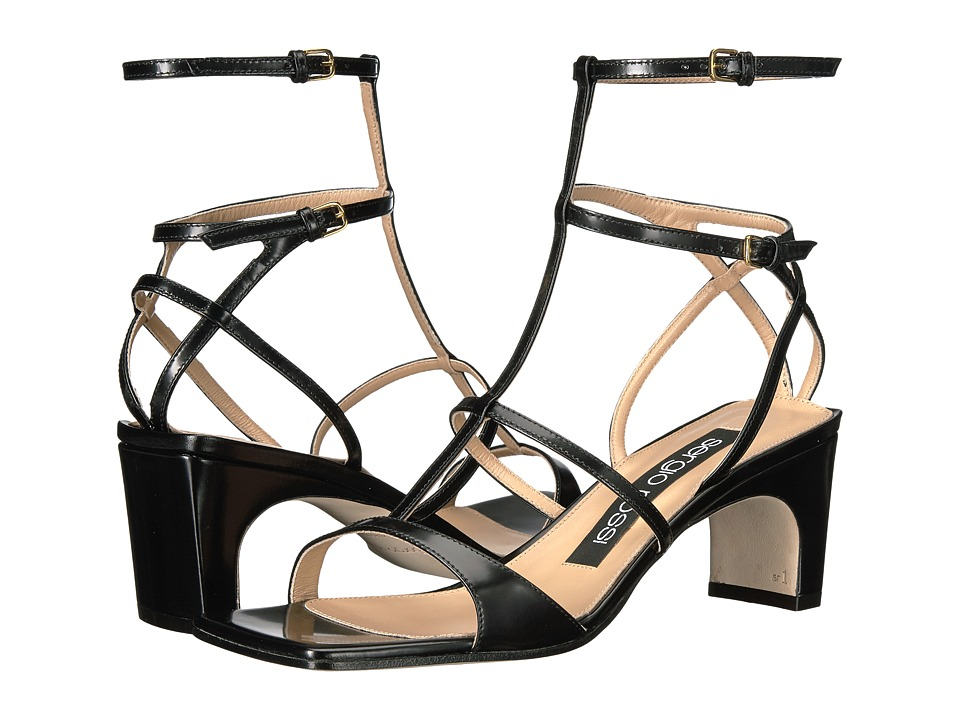 Sergio Rossi A78060-MVIA10 (Black Shiny Leather) High Heels