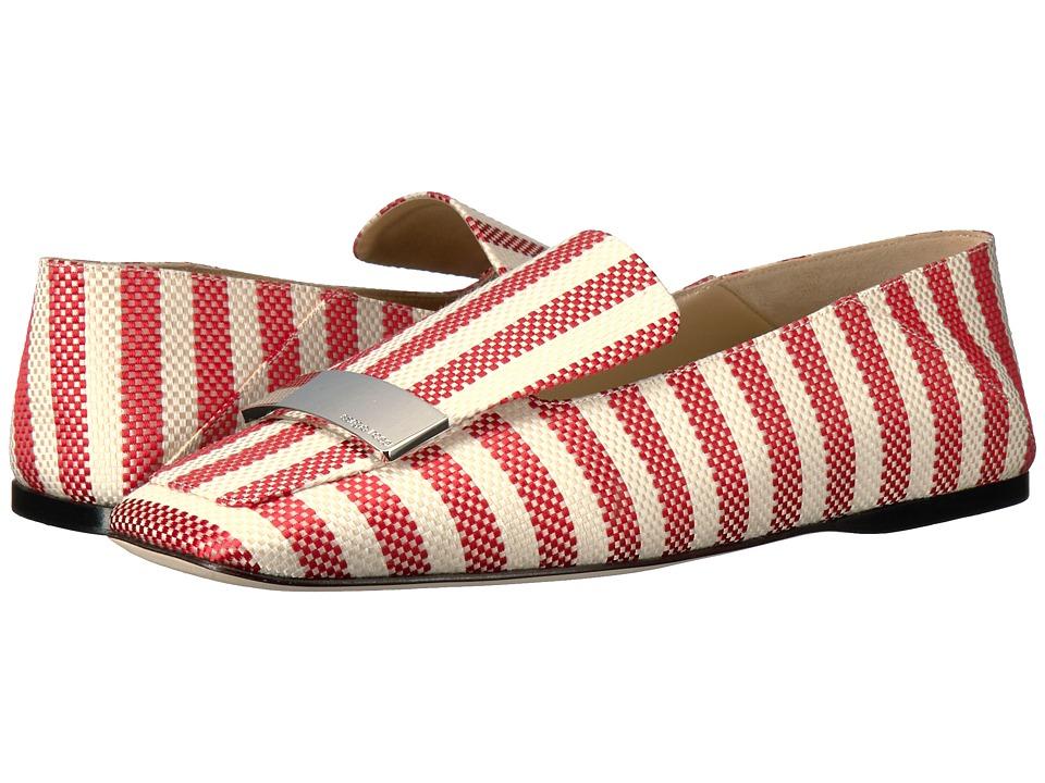 Sergio Rossi A77990-MTE121 (Poppy Red Portofino Fabric) Women