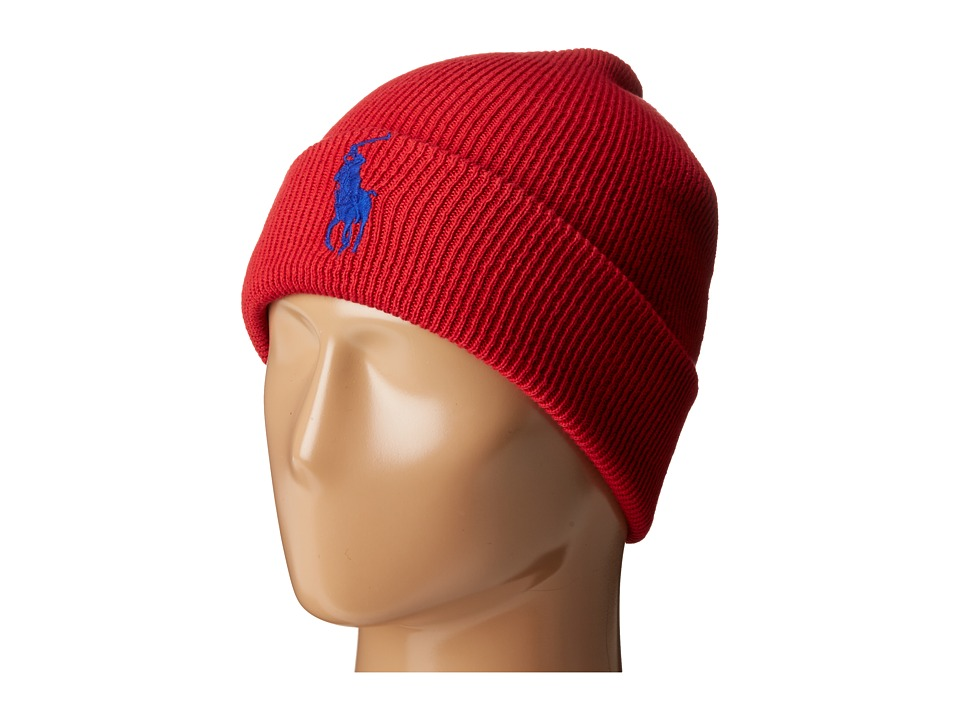 Polo Ralph Lauren - Big Pony Cuff Hat (RL Red 2000/Bright Royal) Caps