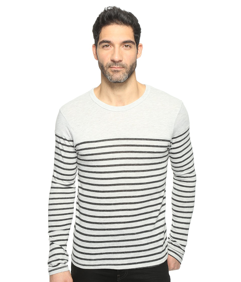 Alternative - Eco Jersey Yarn-Dye Stripe El Capitan Long Sleeve (Eco Oatmeal Riviera Stripe) Men's T Shirt