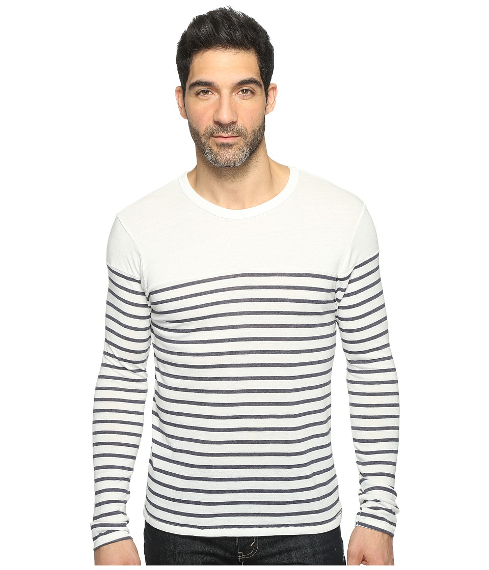 Alternative - Eco Jersey Yarn-Dye Stripe El Capitan Long Sleeve (Midnight Riviera Stripe) Men's T Shirt