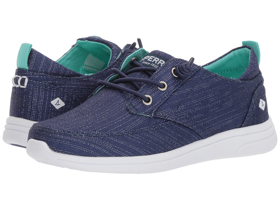Sperry Kids - Baycoast (Little Kid/Big Kid) (Navy/Sparkle) Girls Shoes