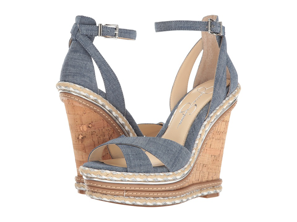 Jessica Simpson - Ahnika (Chambray/Blue/Chambray) Women's Shoes