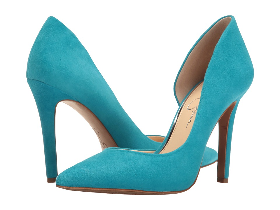 Jessica Simpson - Claudette (Oceanside Luxe Kid Suede) High Heels