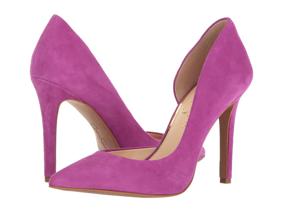 Jessica Simpson - Claudette (Polished Pink Luxe Kid Suede) High Heels