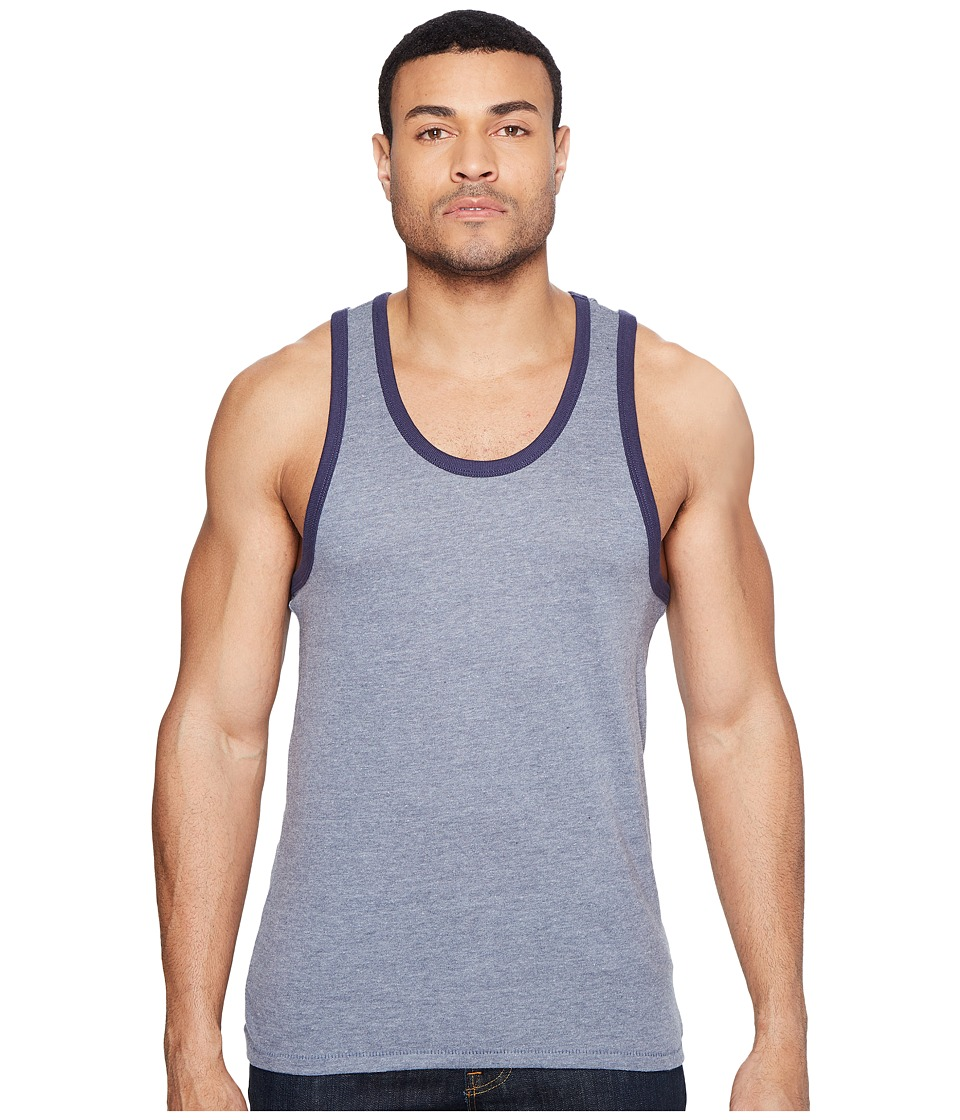 Alternative - Vintage 50/50 Jersey Keeper Tank Top (Vintage Navy/Navy) Men's Sleeveless