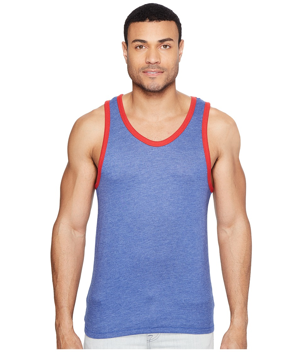 Alternative - Vintage 50/50 Jersey Keeper Tank Top (Vintage Royal/Red) Men's Sleeveless
