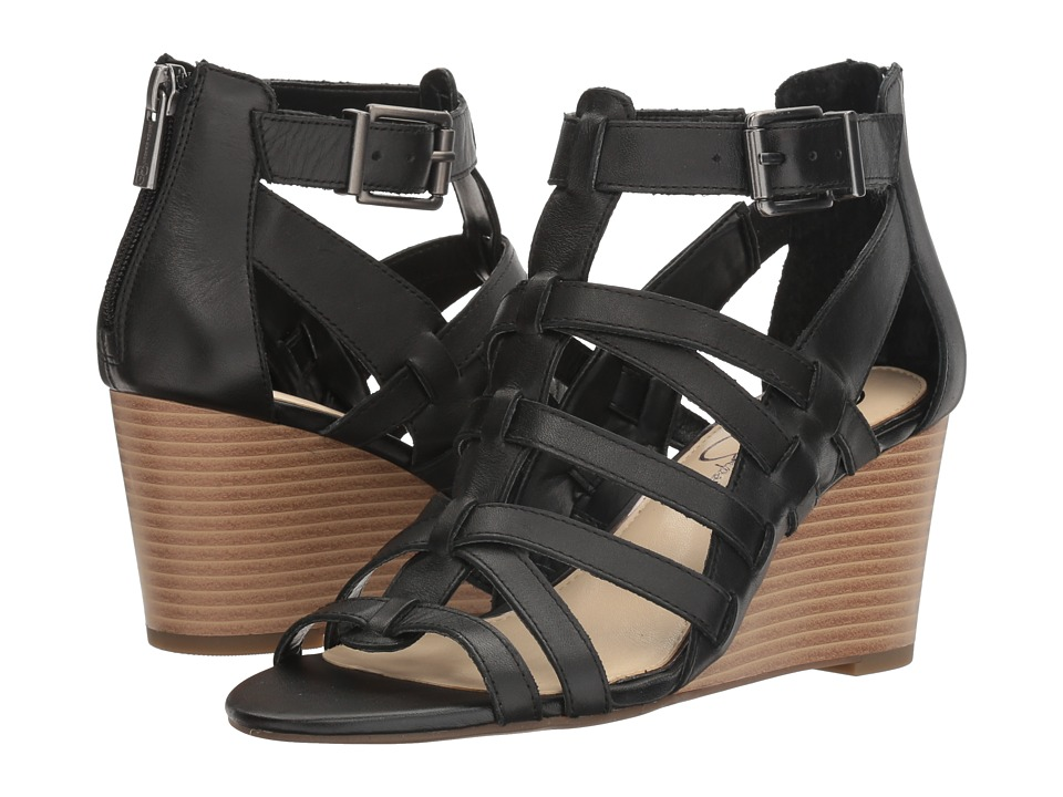 Jessica Simpson - Cloe (Black Soft Nappa Silk) Women's Shoes