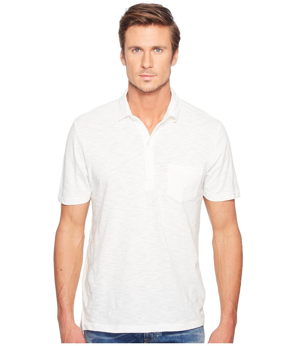 Alternative - Washed Slub Fairway Polo (Vintage White) Men's Clothing