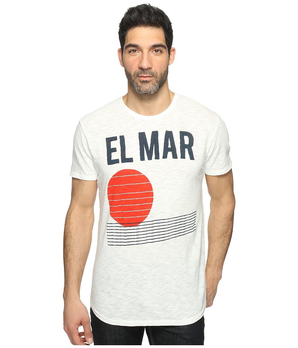 Alternative - Washed Slub Postgame Crew (Vintage White Reactive El Mar) Men's Clothing