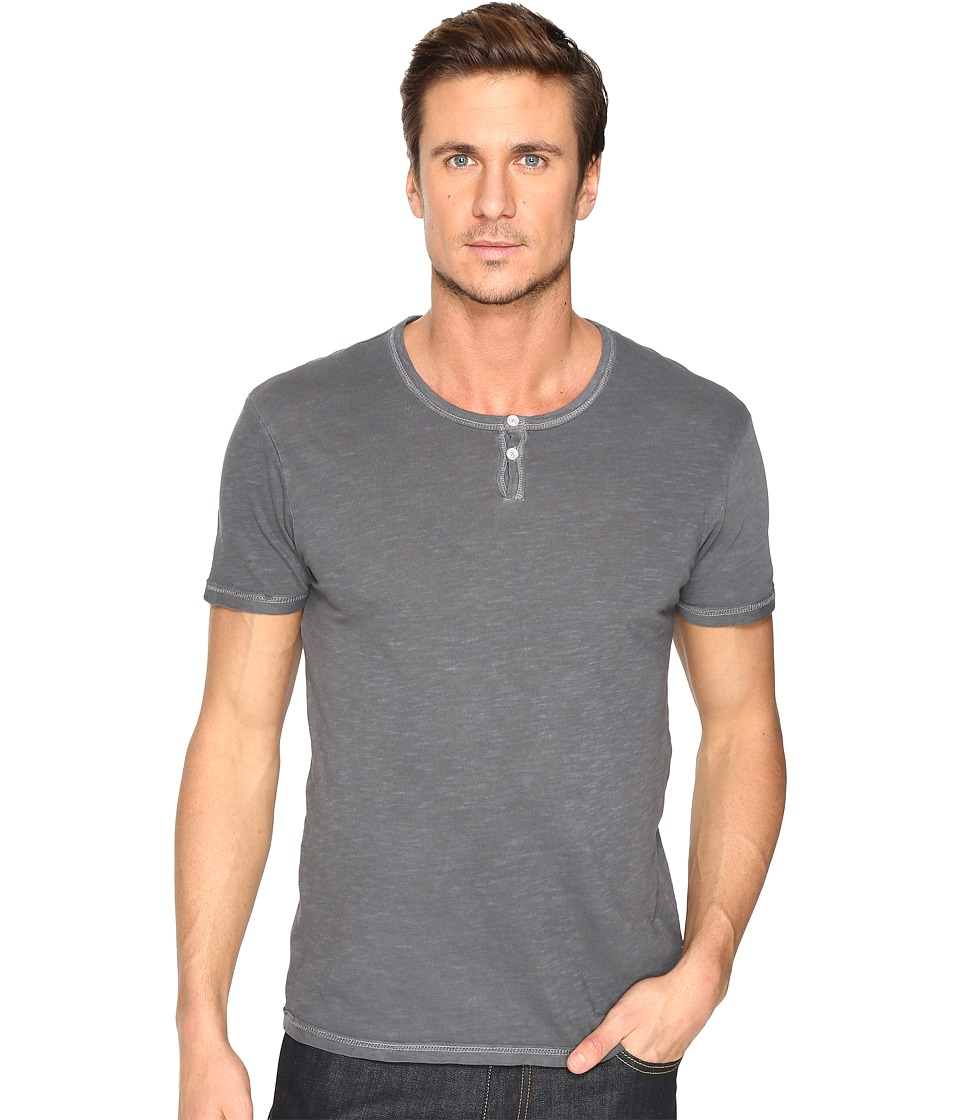 Alternative - Washed Slub Home Team Henley (Coal Pigment) Men's Clothing