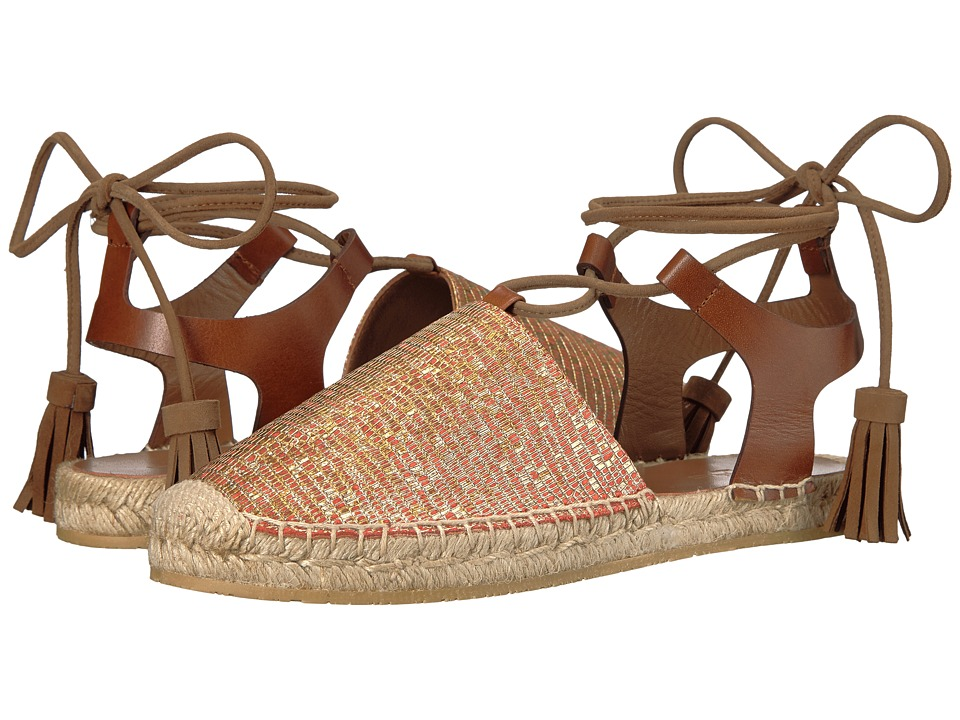 Etro - Ankle Wrap Espadrille (Orange) Women's Shoes