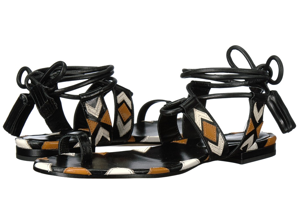 Etro - Ankle Wrap Sandal (Brown) Women's Sandals