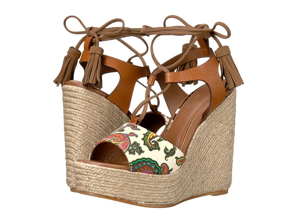 Etro Paisley Wedge Sandal (Cuoio) Women