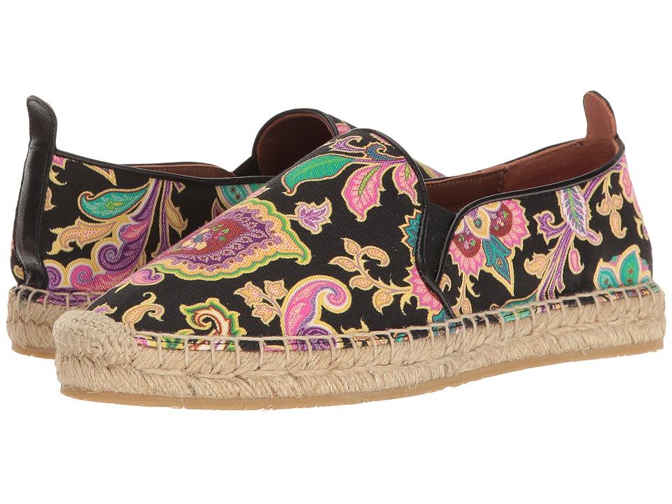 Etro - Paisley Espadrille (Black) Women's Shoes