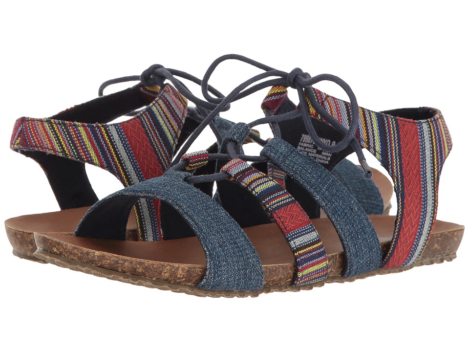 Minnetonka - Elsie (Wyoming Stripe/Blue Denim) Women's Shoes