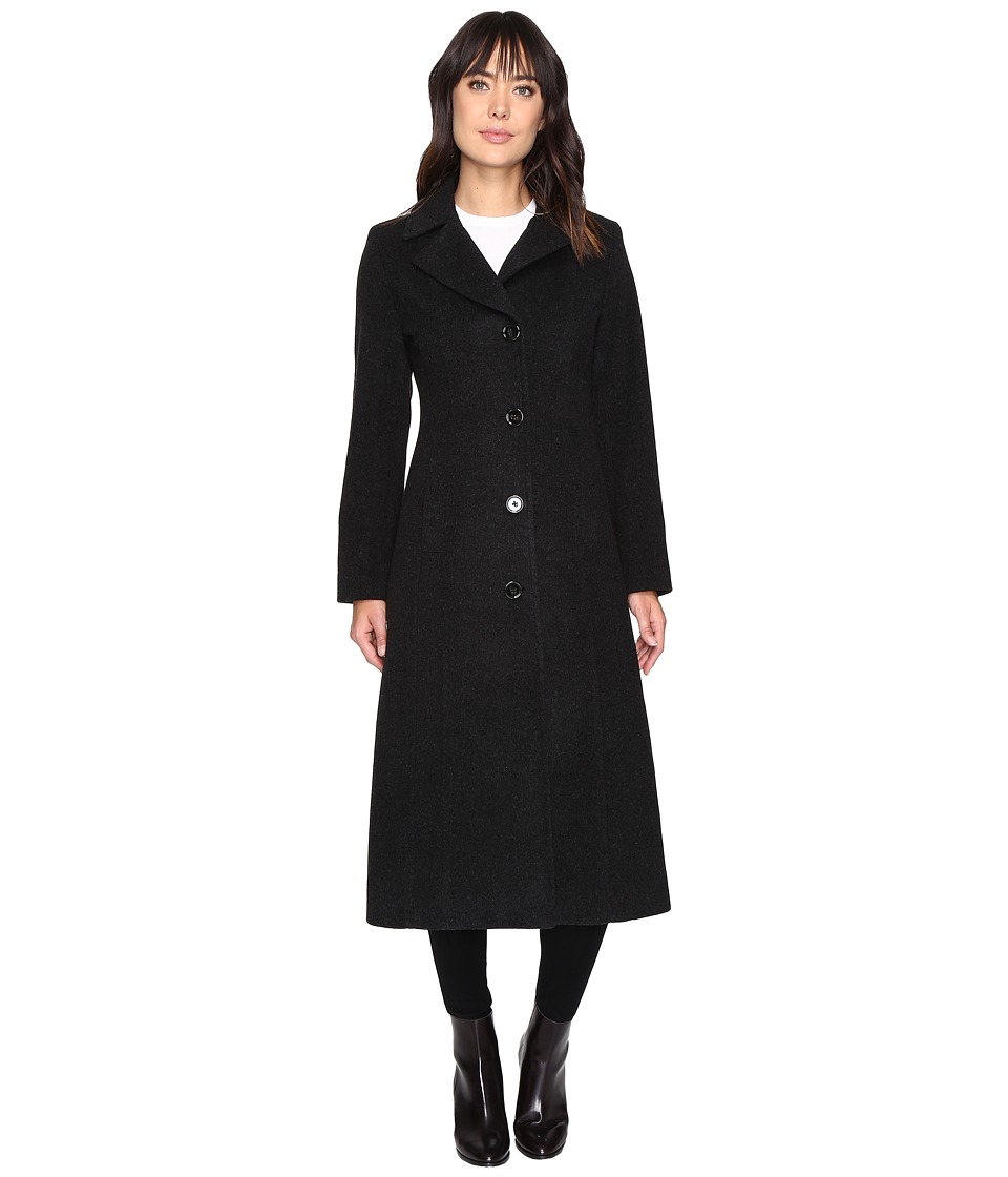 Anne Klein - Wool Long Coat (Black 1) Women's Coat