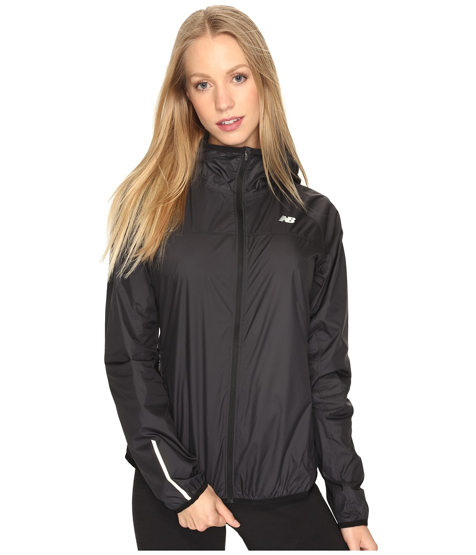 New Balance - Windcheater Jacket (Black) Women's Coat