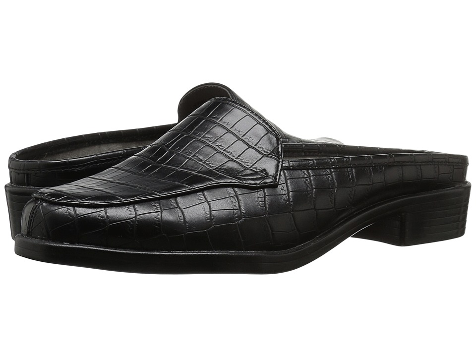A2 by Aerosoles - Best Wishes (Black Croco) Women's Slip-on Dress Shoes