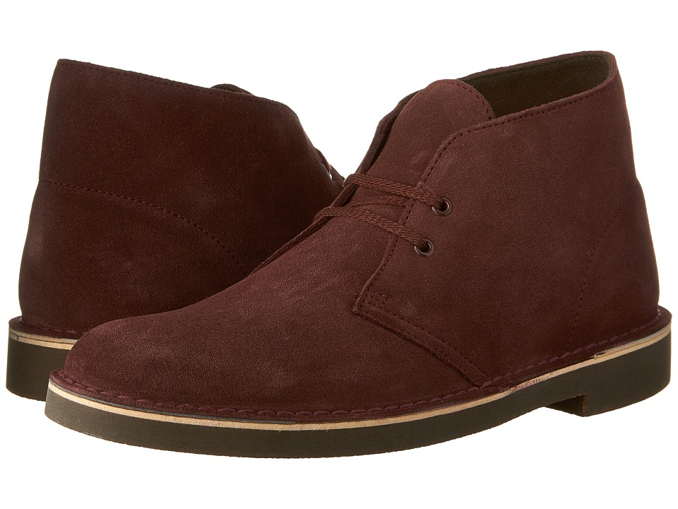 Clarks - Bushacre II (Bordeaux Suede) Men's Shoes