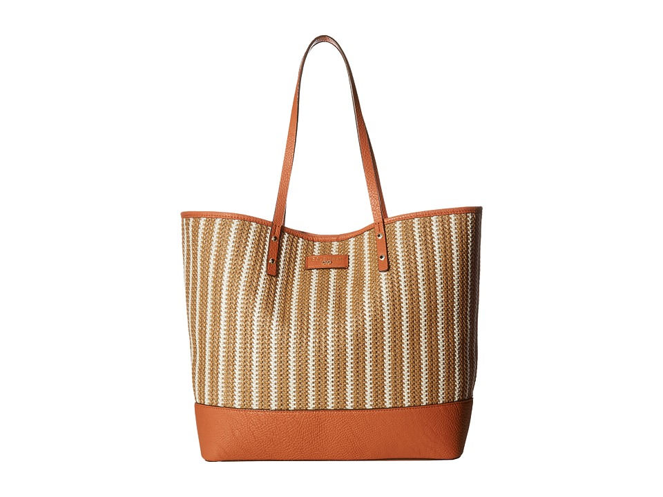 Cole Haan - Beckett Tote (Natural/Ivory Skinny Stripe) Tote Handbags