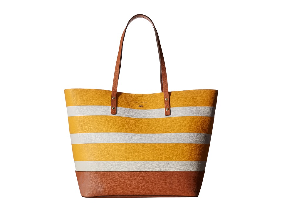 Cole Haan - Beckett Tote (Sunglow/Ivory Stripe) Tote Handbags
