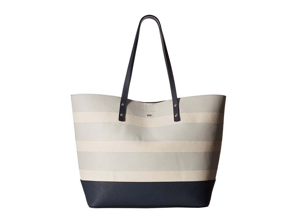Cole Haan - Beckett Tote (Silver Mist/Ivory Stripe) Tote Handbags
