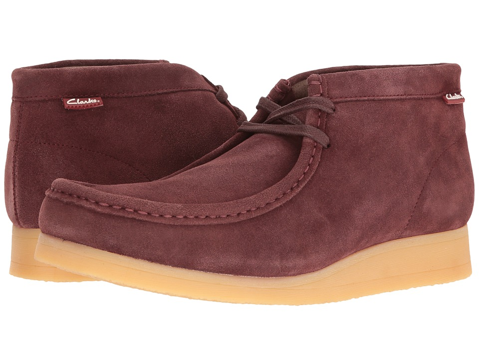 Clarks - Stinson Hi (Bordeaux Suede) Men's Shoes